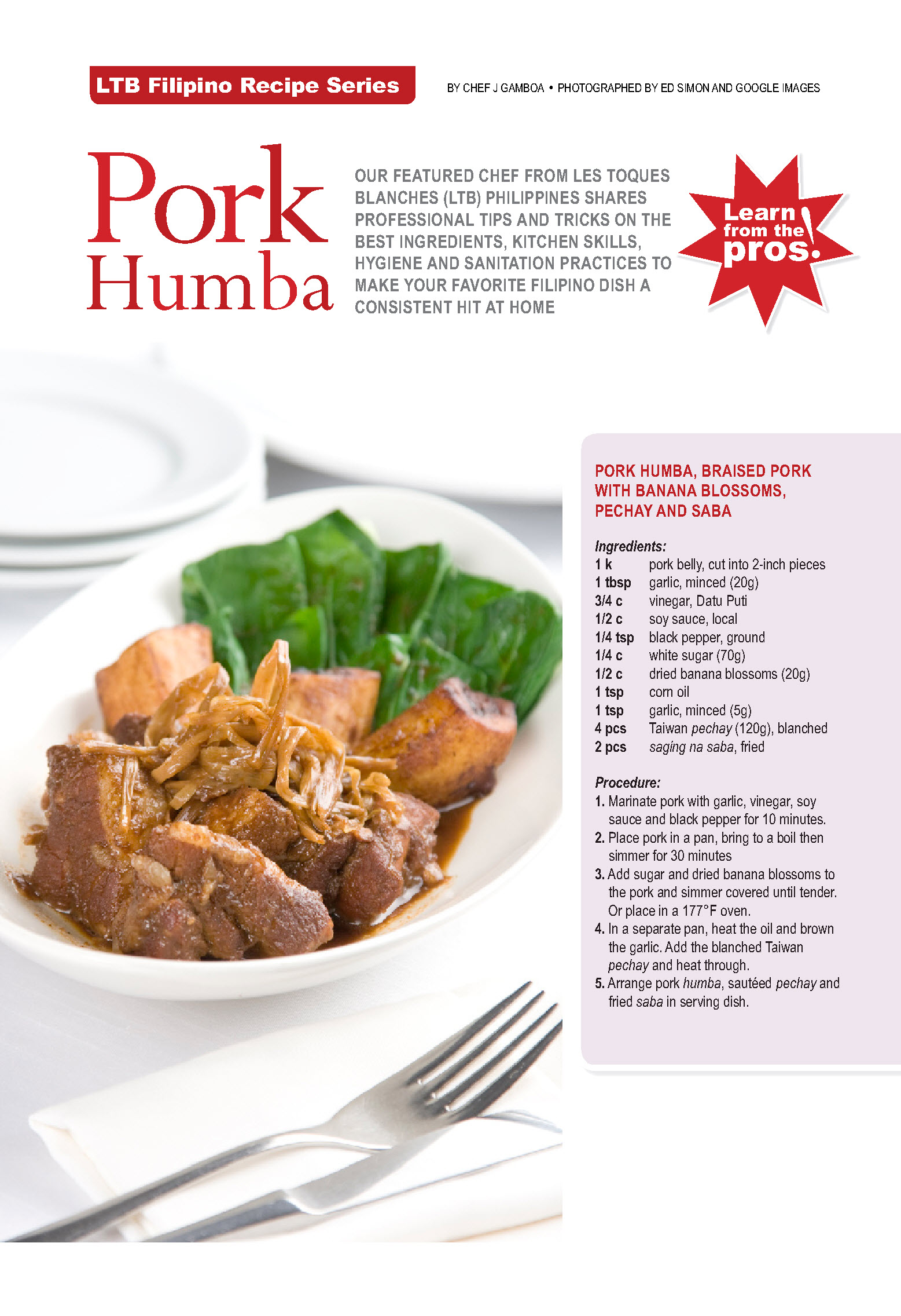 Pork Humba Recipe | LTB Chefs Phils